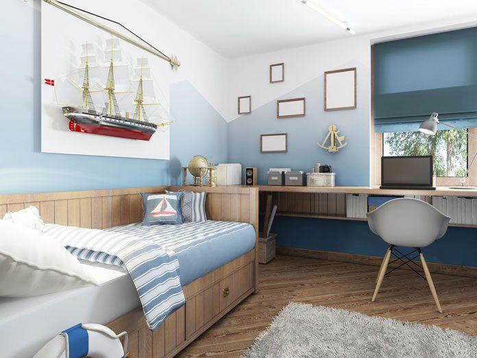 Morski styl w pokoju dziecka